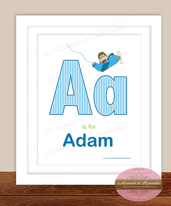 Alphabet Name Print - Letter A for Boys