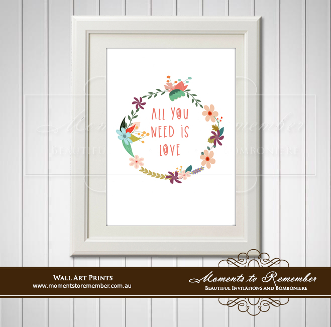 Children's Wall Art - All you need is LOVE