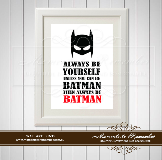 Children's Wall Art - Always Be Batman