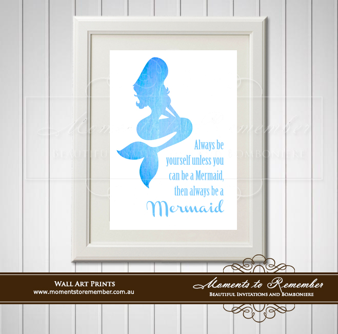 Children's Wall Art - Always Be A Mermaid