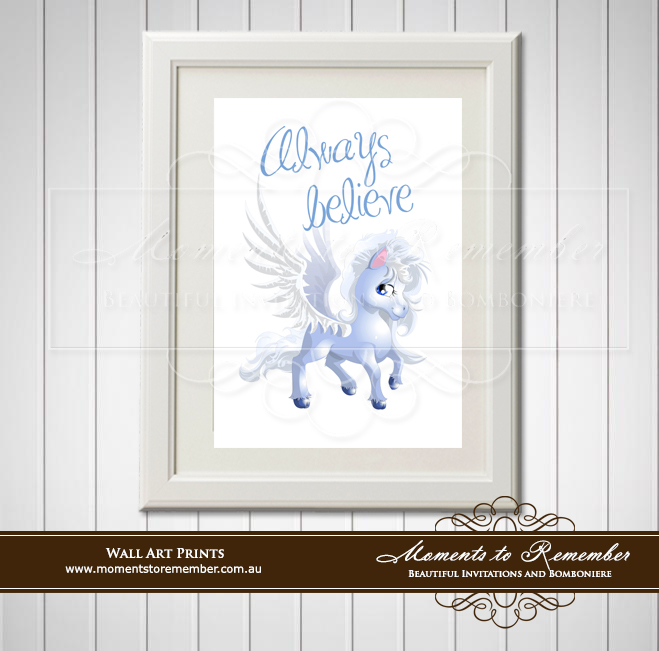 Children's Wall Art - Always Believe