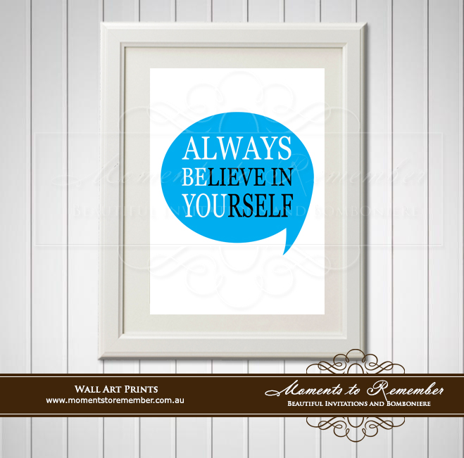 Children's Wall Art - Always Believe in Yourself