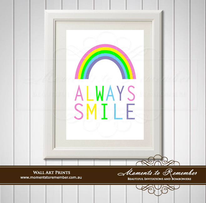 Children's Wall Art - Always Smile