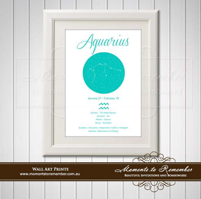 Zodiac Print Aquarius