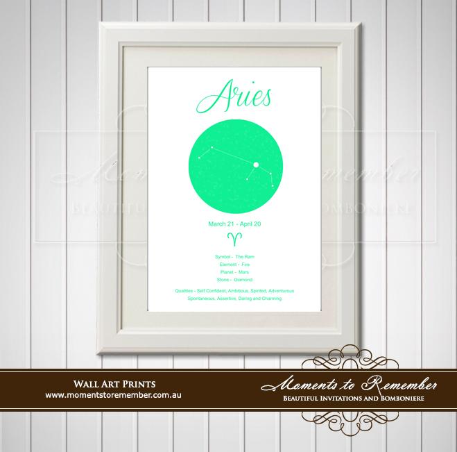 Zodiac Print Aries