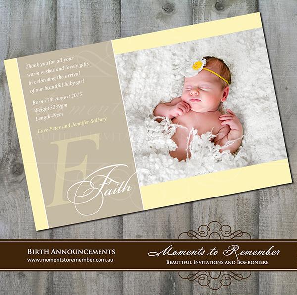 Birth Announcement 14