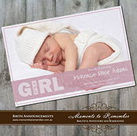 Birth Announcement 07