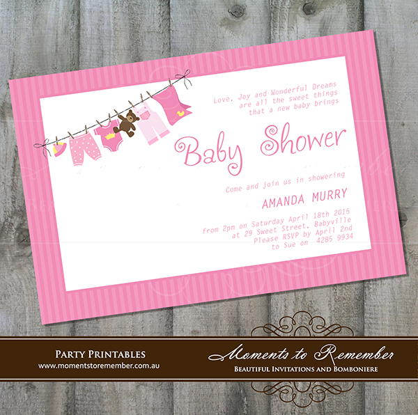Baby Shower Invitation 02