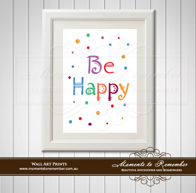 Children's Wall Art - Be Happy