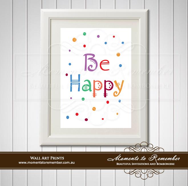 Children's Wall Art - Be Happy
