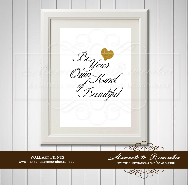Children's Wall Art - Be Your Own Kind of Beautiful