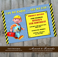 Childrens Invitation - Bob the Builder 01