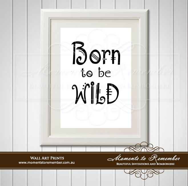 Children's Wall Art - Born to be Wild