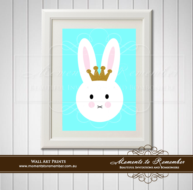 Children's Wall Art - Bunny Face