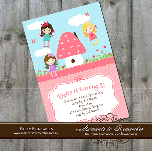 Childrens Invitation - Fairies 01