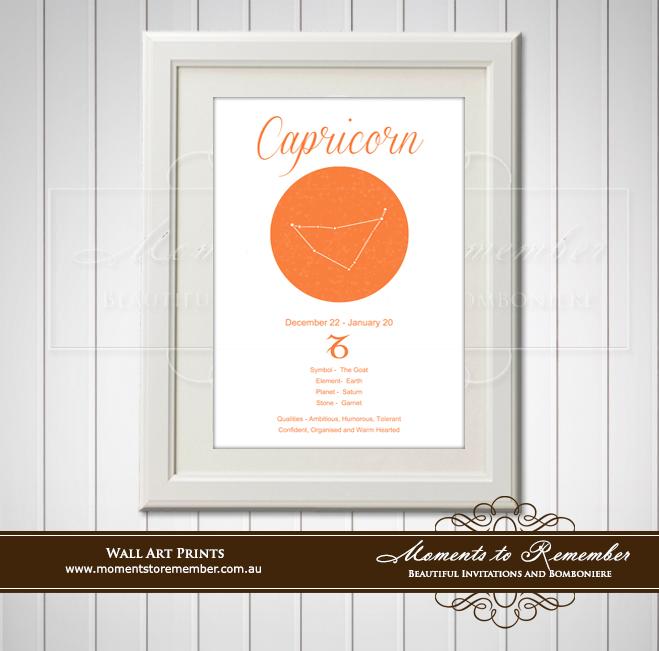 Zodiac Print Capricorn