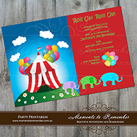 Childrens Invitation - Circus 01