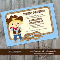 Childrens Invitation - Cowboy 01