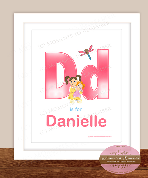 Alphabet Name Print - Letter D for Girls