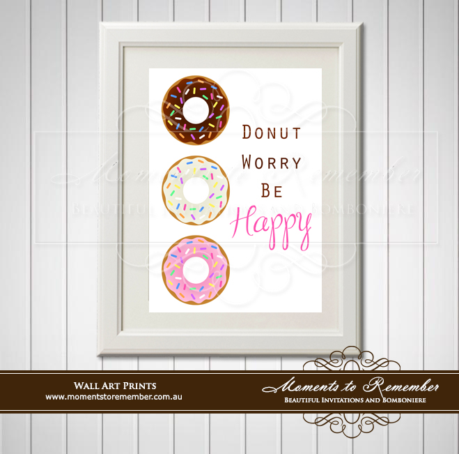 Children's Wall Art - Donut Worry