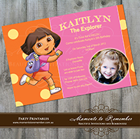 Childrens Invitation - Dora the Explorer 01