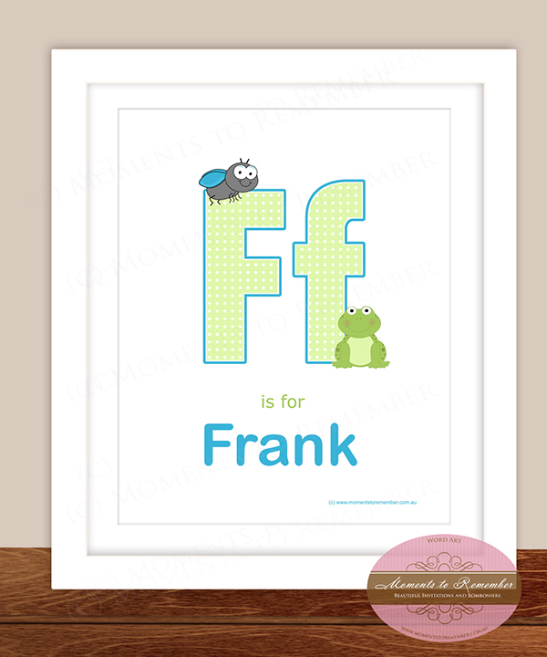 Alphabet Name Print - Letter F for Boys