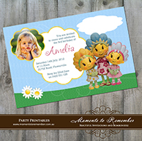 Childrens Invitation - Fifi and the Flowertots 01