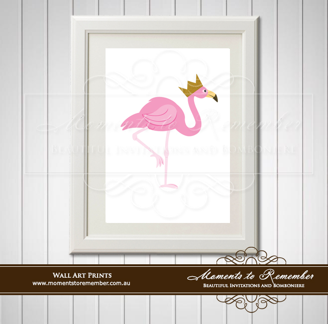 Children's Wall Art - Flamingo