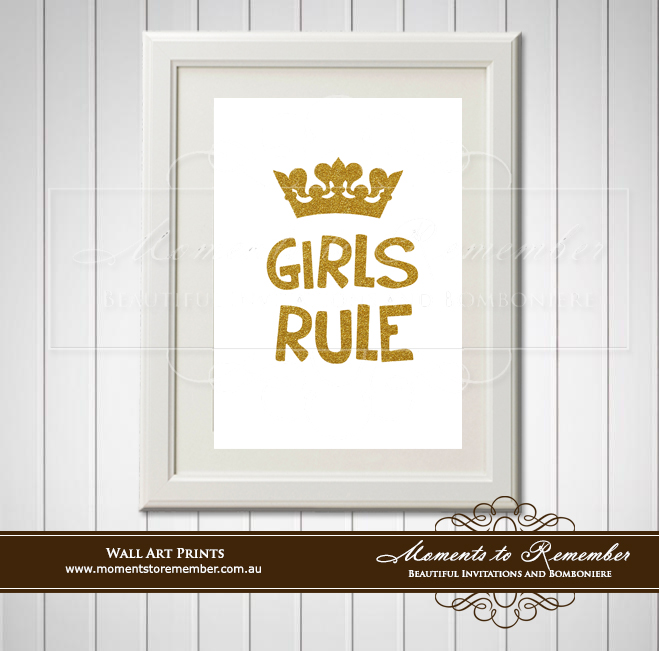 Children's Wall Art - Girls Rule