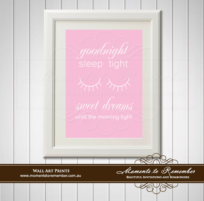 Children's Wall Art - Good Night, Sleep Tight