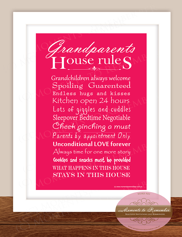 Grandparents House Rules Print 01