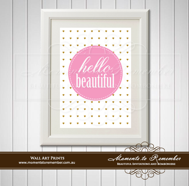 Children's Wall Art - Hello Beautiful