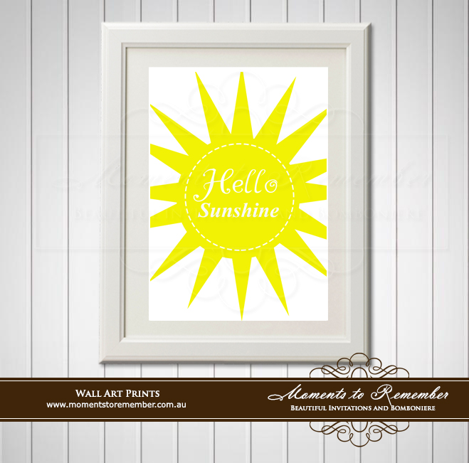 Children's Wall Art - Hello Sunshine