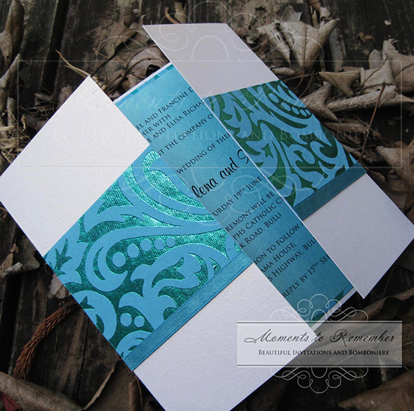 Wedding Invitations - Aqua Fizz