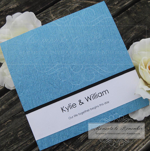 Wedding Invitations - Blue Water