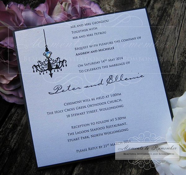 Wedding Invitations - Chandelier