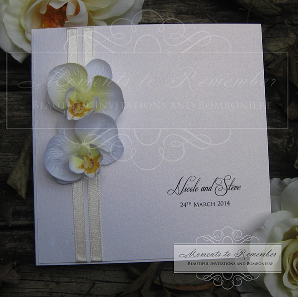 Wedding Invitations - Frangipani Delight