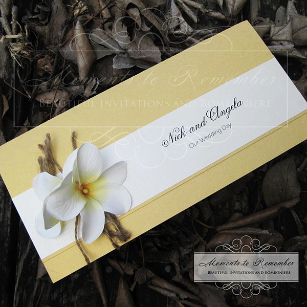 Wedding Invitations - Frangipani Dreams