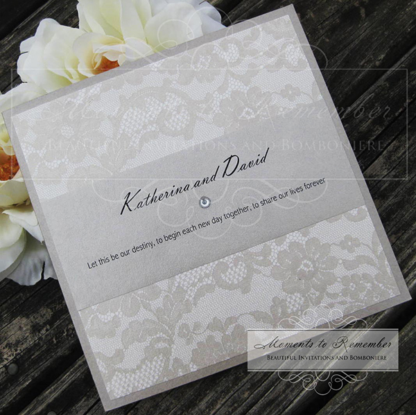 Wedding Invitations - French Lace