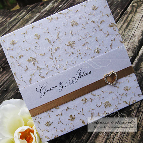 Wedding Invitations - Gold Vines