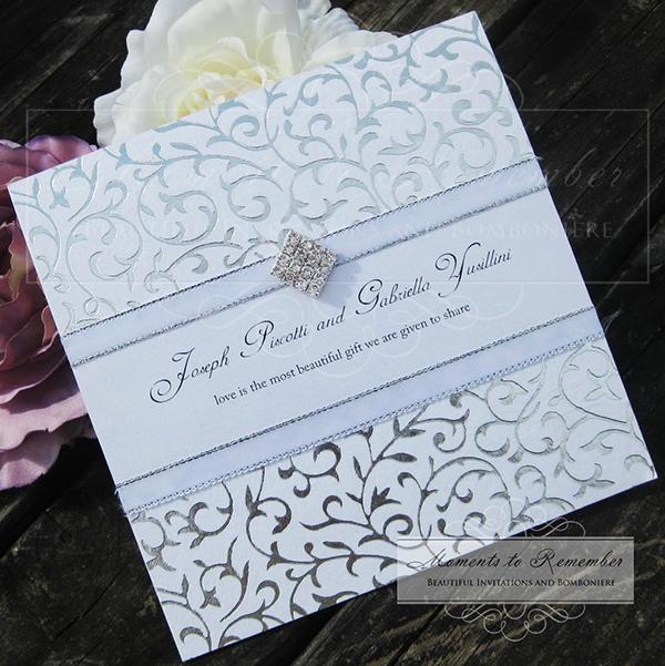 Wedding Invitations - Majestic Silver