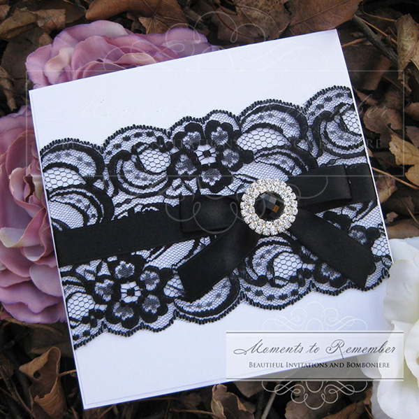 Wedding Invitations - Midnight Lace