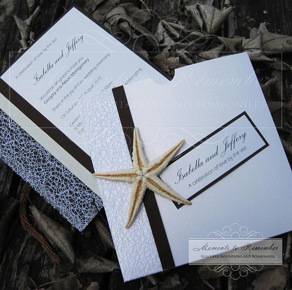 Wedding Invitations - Starfish