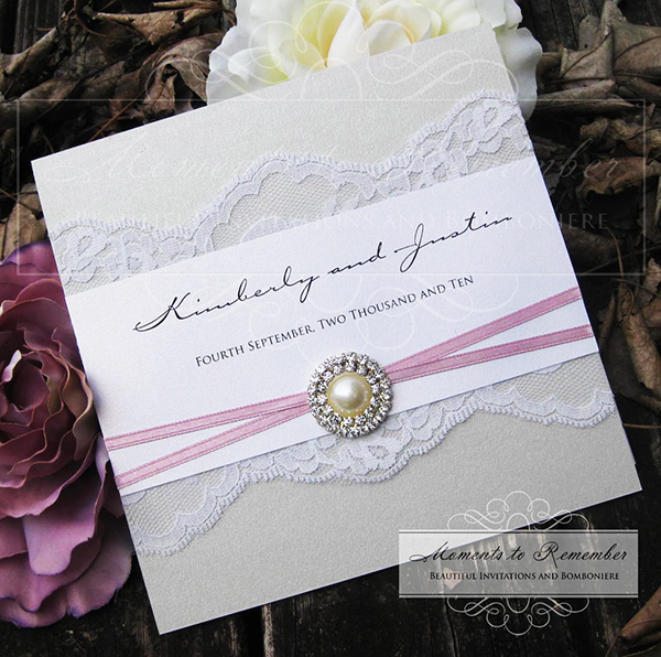 Wedding Invitations - Vintage Glamour