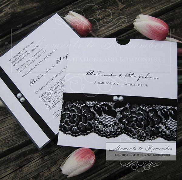 Wedding Invitations - Vintage Pearl