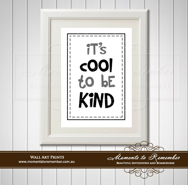 Children's Wall Art - It's Cool to be Kind