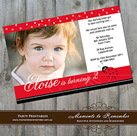 Childrens Invitation - Ladybird 01