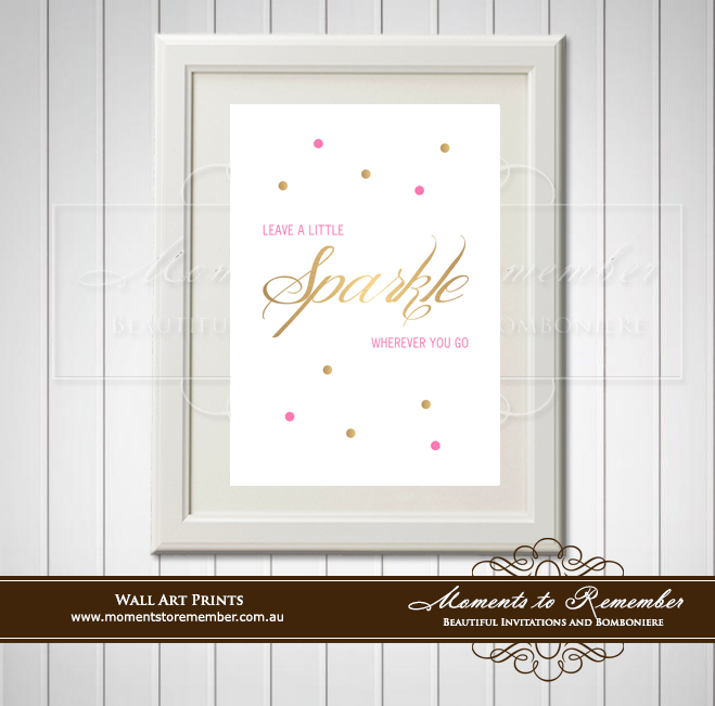 Children's Wall Art - Leave a Little Sparkle