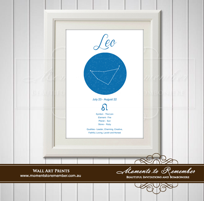 Zodiac Print Leo