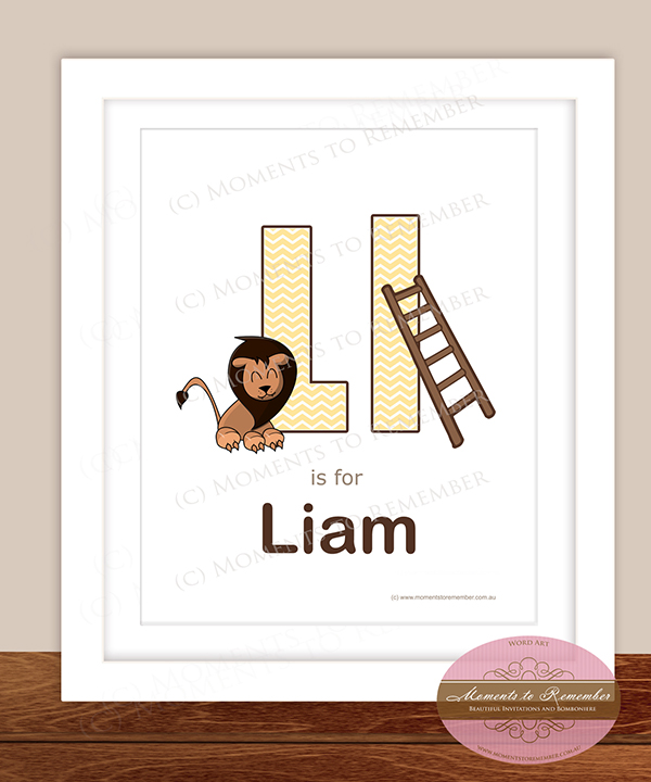 Alphabet Name Print - Letter L for Boys